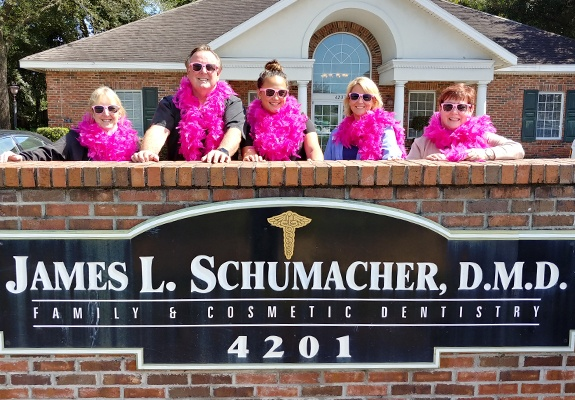 Doctor Schumacher and his Jacksovnille, Florida dental team